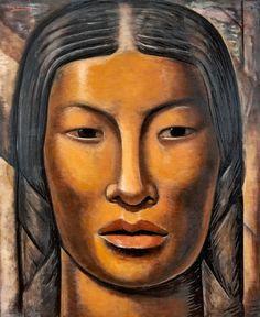 forma es vacío, vacío es forma: Alfredo Ramos Martínez - pintura. Mujer India Maya - 1936