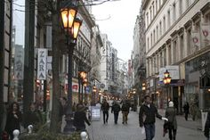 Shops in Váci Street during Christmas