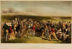 """""""The Golfers"""" by Charles Lees,1847, depicting """"a grand match played in 1844 over St. Andrews Links""""."""