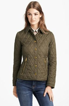 Burberry Brit 'Moredale' Quilted Jacket available at #Nordstrom