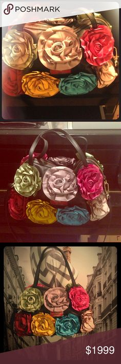 Valentino multicolor flowers purse. Authentic! Like new. Flowers are 100% leather. Why TO buy a buqué of flowers if you can have one everyday on your shoulders...  Check my other listings!! Sale! It was $1999! Valentino Bags Shoulder Bags