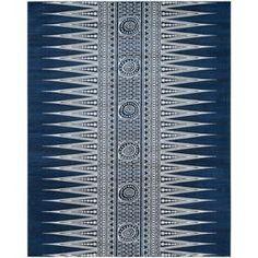 Safavieh Evoke Layla Royal/Ivory Rectangular Indoor Machine-Made Oriental Area Rug (Common: 10 X 14; Actual: 10-Ft W X 1