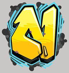 Grafitti Letters, Graffiti Alphabet Styles, Graffiti Names, Graffiti Lettering Fonts, Graffiti Writing, Graffiti Tagging, Graffiti Designs, Alphabet Art, Creative Lettering