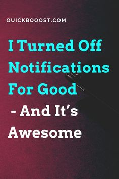 If you're serious about being productive, I highly recommend turning off your notifications. Here's what I did to enhance my focus like never before. #productive #productivity #focus