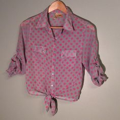 Polka dot blouse Closet Rules: No Holds or Trades Same Day or Next Day Shipping All Items are in Gently Used Condition Unless Stated Otherwise Tops