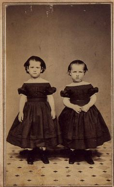 cdv of young girls by H.C. Heath, La Crosse, WI ca. 1861-1865