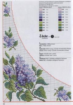 Cross-stitch Purple Flowers Corner section & Border, part 1... Gallery.ru / Фото #26 - rico3 - vira-pagut