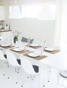 Contemporary white dining