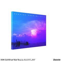 """SUN CLOUD 30""""X22""""X1.5 CANVAS PRINT Photo Canvas, Canvas Art Prints, Wrapped Canvas, Clouds, Sun"""