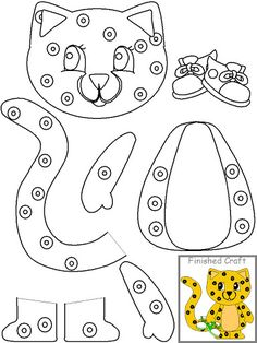 Crafts,Actvities and Worksheets for Preschool,Toddler and Kindergarten.Lots of worksheets and coloring pages. Cheetah Crafts, Tiger Crafts, Animal Crafts, Preschool Crafts, Preschool Activities, Art For Kids, Crafts For Kids, Paper Bag Puppets, Printable Crafts