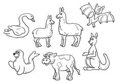 Is Your Mama a Llama Set Coloring page
