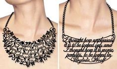 Wear your favourite book qoutes!