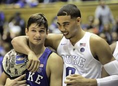 Grayson Allen and Jayson Tatum | 2 very talented hard working young men who are going to end up somewhere great some day.