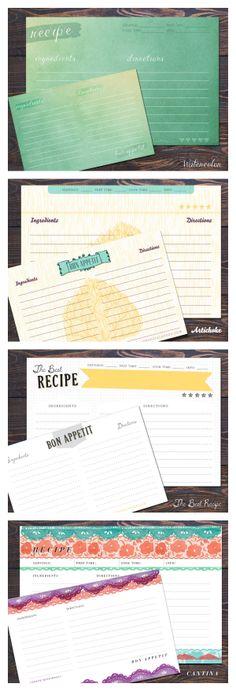 Paprika Recipe Cards One Dozen, Double-Sided Earmark Social - double recipe cards