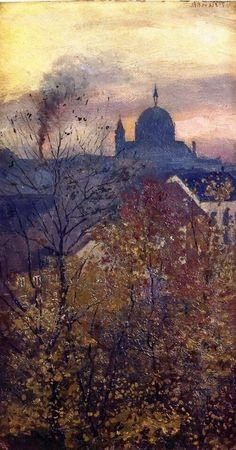 Edvard Munch, The Dome of Trinity Church on ArtStack #edvard-munch #art