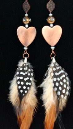 "Kath's Elegant Accessories, LLC created these ""I Heart Feathers - Hilary Earrings"" for Hilary Duff, that were in a gift bag from The Artisan Group."