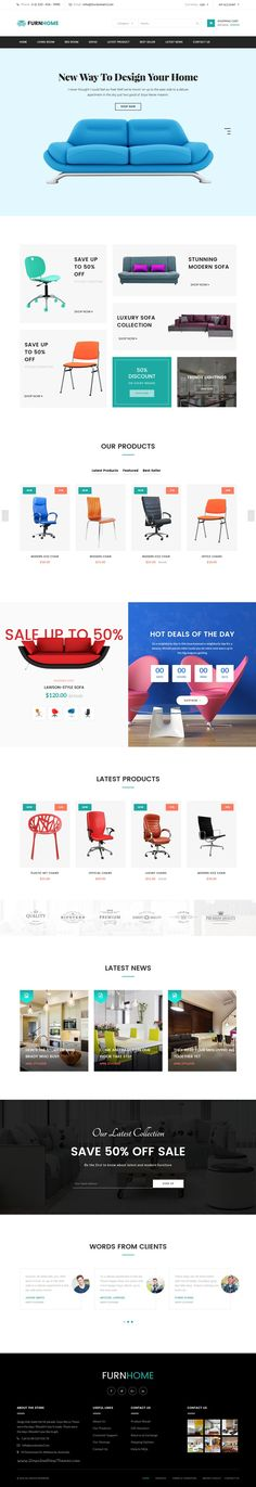Furnhome is stunning eCommerce #Bootstrap HTML Template for #Furniture or #decor…