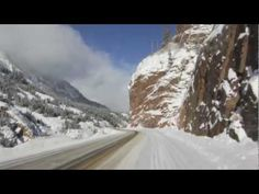 Driving the Million Dollar Highway during Winter - YouTube