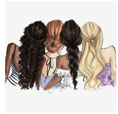 Drawing of girls friends bff 38 Ideas Girly M, Best Friend Drawings, Girly Drawings, Best Friend Sketches, Watercolor Fashion, Friend Pictures, Friend Pics, Best Friends Forever, Fashion Sketches