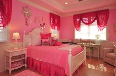 Perfectly pink girls bedroom ~ Interior design by Brenda Sands  Baer's Boca Raton