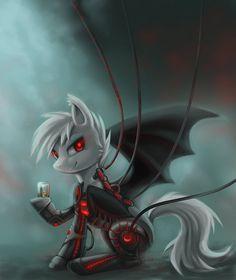 Bat Pony Cyborg - Weiss by Virandel.deviantart.com on @deviantART