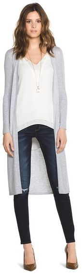 Long Sleeve Midi Coverup - under $100 #fallstyle #fall2015