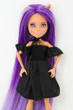 Custom Monster High Dolls, Monster High Repaint, New Hair, Barbie, Jeans Rock, Ooak Dolls, Handmade Clothes, Aurora Sleeping Beauty, Beautiful