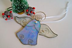 Christmas Angel Christmas Ornament Stained Glass Angel Suncatcher Christmas Tree Christmas Decoration