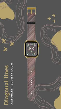 Rusty Diagonal Lines Abstract Design Apple Watch Band by AMSonArt | Society6Be a trendsetter with this Apple Watch band featuring AMSonArt designs on the vegan leather strap and are available with four different hardware colors; gold, rose gold, silver and black. They're perfect for everyday wear with a soft suede-like underside and you can easily swap in new bands using the quick release springs..#watcheswomen #watchformen #applewatch Gold Apple Watch, Apple Watch Bands, Thoughtful Gifts For Him, New Bands, Latest Mens Fashion, Soft Suede, Things To Buy, Vegan Leather, Watches For Men