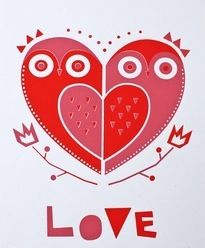 Owl love the perfect heart