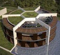 Beste voetballer aller tijden heeft een nieuw huis ontworpen (laten ontwerpen). En hoe kan het ook anders?, het lijkt op een voetbal.