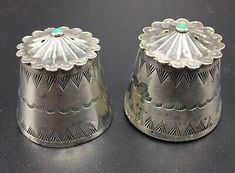 Navajo, Silver Candlesticks, Great Neck, Turquoise, Candlestick Holders, Decorative Bells, Antique Silver, Native American, Monogram