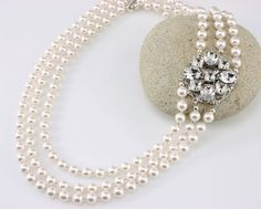 BLACK FRIDAY SALE Vintage Style Wedding Necklace by LizardiBridal, $125.25