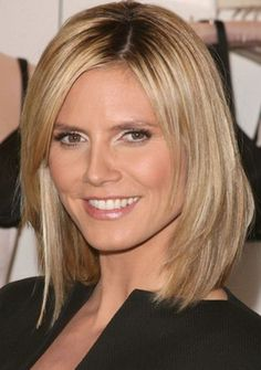 Lovely medium length haircuts for round faces