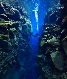In between two tectonic plates
