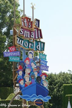 Even though the music is the same, it's a small world is perhaps night and day different from WDW!