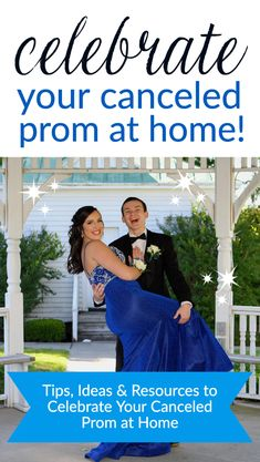Tips, ideas and resources to celebrate your canceled prom at home Homecoming Dance, Senior Prom, Senior Year Of High School, Formal Dance, Promposal, Prom Night, Prom Ideas, Grad Parties, Prom Party
