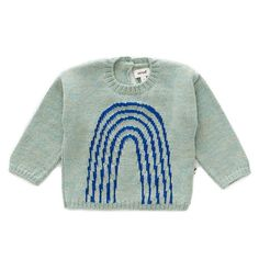Mobilize rainbows by having your lil' ray of sunshine rock this electric blue knit rainbow sweater. Introducing the coziest baby rainbow sweater ever, made with the softest baby alpaca wool, hypoallergenic, and eco-friendly. Baby Alpaca, Alpaca Wool, Rainbow Sweater, Designer Baby Clothes, Rainbow Print, Baby Design, Electric Blue, Simple Dresses, Wool Sweaters