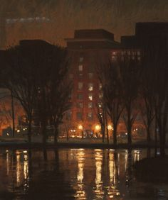 First Night at the Frogpond, pastel. liz haywood sullivan