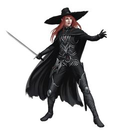 Female Half-Elf Inquisitor of Pharasma - Pathfinder PFRPG DND D&D 3.5 5th ed d20 fantasy