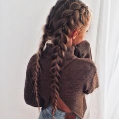 33 Coole Zöpfe Festival Frisuren, Hobo-Haare, # cool Braids two 33 Coole Zöpfe Festival Frisuren My Hairstyle, Pretty Hairstyles, Hairstyle Ideas, French Plait Hairstyles, Picture Day Hairstyles, Quick Hairstyles, Hairstyles Tumblr, Ladies Hairstyles, Makeup Hairstyle