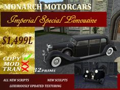 Second Life Marketplace - Monarch DVG Imperial Limousine - Black - Boxed