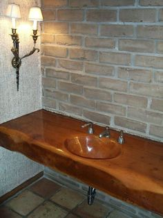 This Vanity Countertop Was Built With A Solid 10x22 Douglas Fir