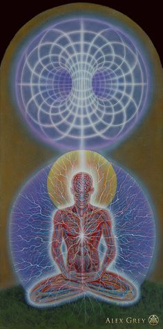 Yogi & Moebius Sphere - Alex Grey