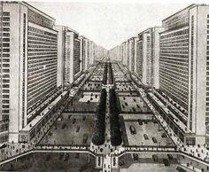 Radiant City, Le Corbusier, 1935