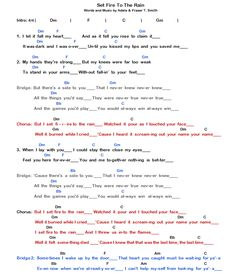 Adele - Set Fire To The Rain Chords & Lyrics - Part 1