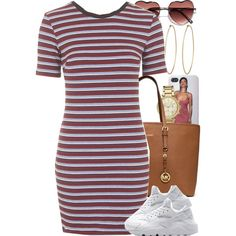 A fashion look from August 2015 featuring Topshop dresses, MICHAEL Michael Kors bags y Michael Kors watches. Browse and shop related looks. Urban Fashion, Teen Fashion, Love Fashion, Fashion Outfits, Womens Fashion, Fashion Trends, Swag Outfits, Dope Outfits, Casual Outfits