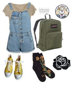 """Outfit inspiration"" by sunsetsandflowers on Polyvore featuring Boohoo, Converse and JanSport"