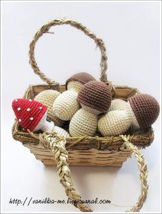 Play Food - Crochet Mushrooms