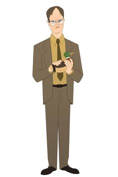 """An Artist Animated """"The Office"""" Characters And They're All Truly Amazing-Dwight Schrute Office Cast, The Office Characters, Cartoon Characters, Office Cartoon, Office Jokes, The Office Show, Office Wallpaper, Wallpaper Ideas, Wallpaper Quotes"""